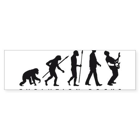 evolution e-guitar player Sticker (Bumper)