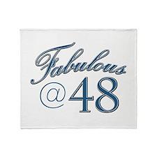 Fabulous at 48 Throw Blanket