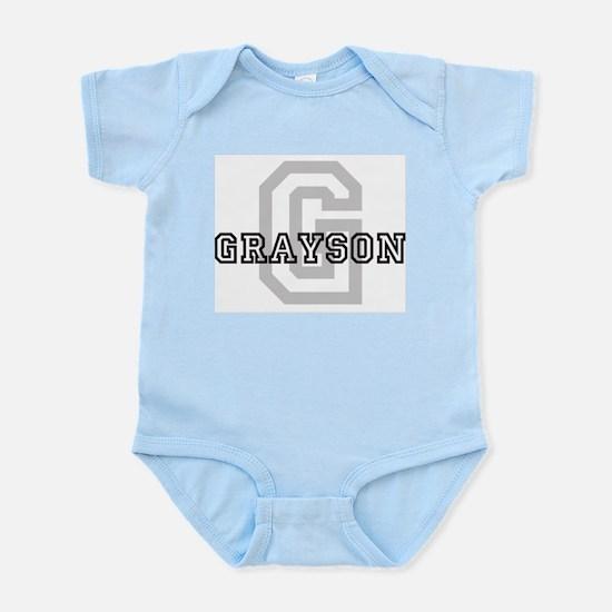 Grayson (Big Letter) Infant Creeper