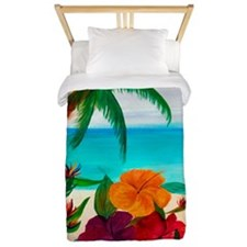 Tropical Floral Beach Twin Duvet