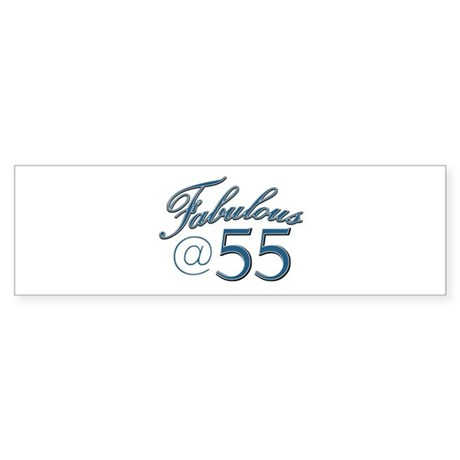 Fabulous at 55 Sticker (Bumper)