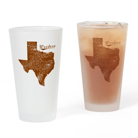 Woodrow, Texas (Search Any City!) Drinking Glass