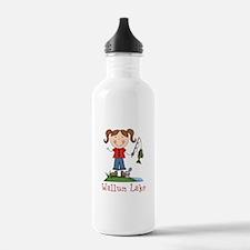 Wallum Lake Fishing Girl Water Bottle