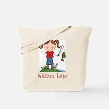 Wallum Lake Fishing Girl Tote Bag