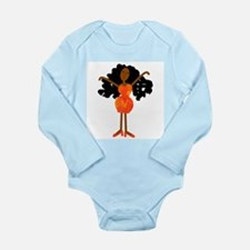 Diva in Orange Dress Long Sleeve Infant Bodysuit