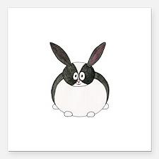 "Dutch Rabbit. Square Car Magnet 3"" x 3"""