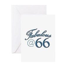 Fabulous at 66 Greeting Card