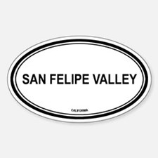 San Felipe Valley oval Oval Decal