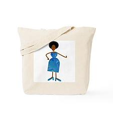 Diva in Blue Dress Tote Bag