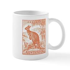 1937 Australian Kangaroo Stamp Orange Mug