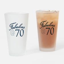 Fabulous at 70 Drinking Glass