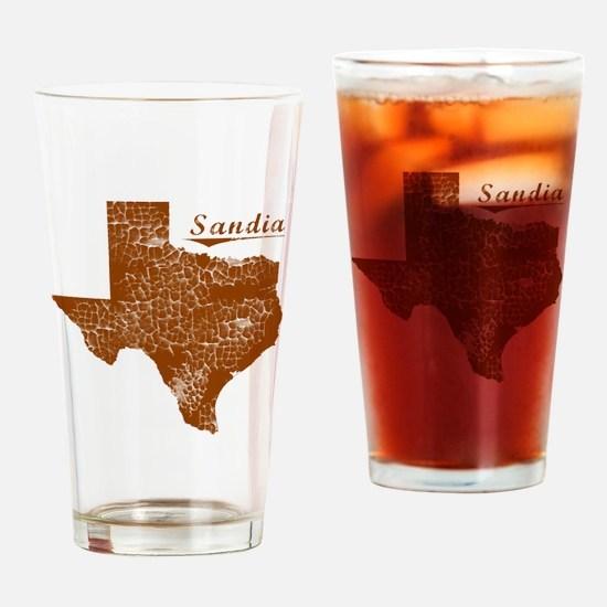 Sandia, Texas (Search Any City!) Drinking Glass