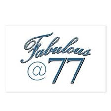 Fabulous at 77 Postcards (Package of 8)