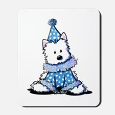Blue Clown Westie Mousepad