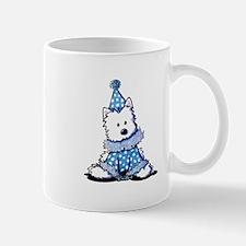 Blue Clown Westie Mug