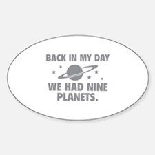 We Had Nine Planets Decal