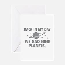 We Had Nine Planets Greeting Card