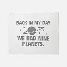 We Had Nine Planets Throw Blanket