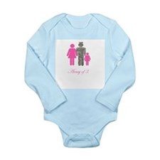 Funny Army daughter Long Sleeve Infant Bodysuit