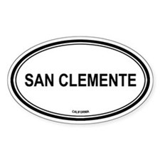San Clemente oval Oval Decal