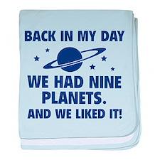 We Had Nine Planets baby blanket