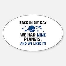 We Had Nine Planets Decal