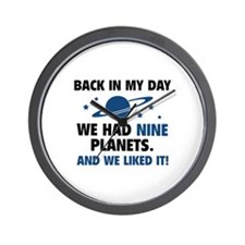 We Had Nine Planets Wall Clock