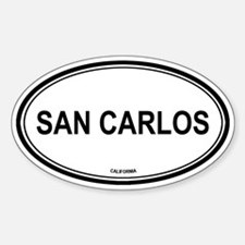 San Carlos oval Oval Decal