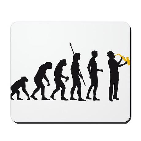 evolution saxophone player Mousepad