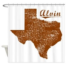 Alvin, Texas (Search Any City!) Shower Curtain
