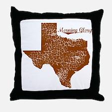Morning Glory, Texas. Vintage Throw Pillow