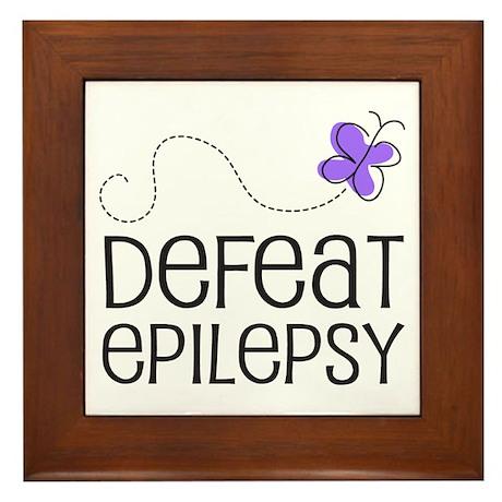 Defeat Epilepsy Framed Tile