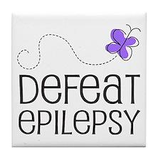 Defeat Epilepsy Tile Coaster