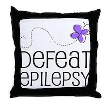 Defeat Epilepsy Throw Pillow
