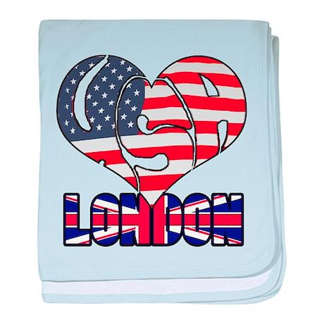 2012 USA London baby blanket