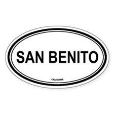 San Benito oval Oval Decal
