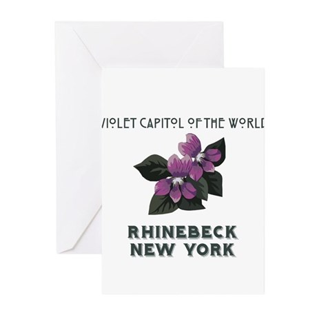 violet capitol of the world rhinebeck Greeting Car