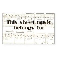 Sheet Music Label Decal