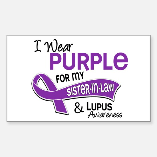 I Wear Purple 42 Lupus Sticker (Rectangle)