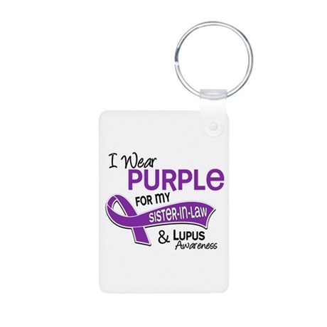 I Wear Purple 42 Lupus Aluminum Photo Keychain