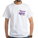 I wear purple for my sister Mens Classic White T-Shirts