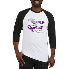 I Wear Purple 42 Lupus Baseball Jersey
