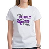 I wear purple for my niece and lupus awareness Women's T-Shirt