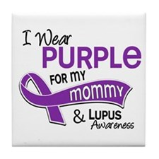 I Wear Purple 42 Lupus Tile Coaster