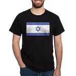 Israeli Flag Black T-Shirt