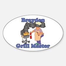Grill Master Brayden Sticker (Oval)
