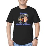 Grill Master Brent Men's Fitted T-Shirt (dark)