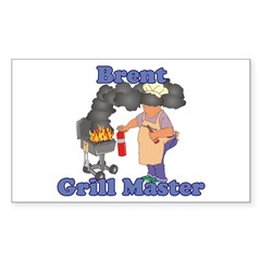 Grill Master Brent Sticker (Rectangle)