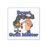 Grill Master Brent Square Sticker 3