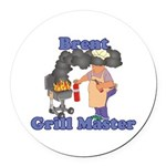 Grill Master Brent Round Car Magnet